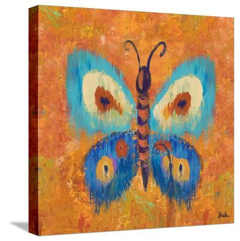 Ikat Flutter Square I-Patricia Pinto-Stretched Canvas Print
