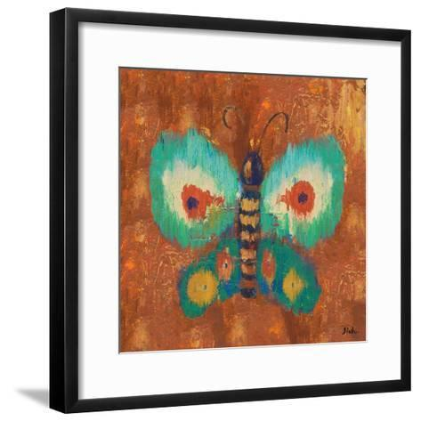 Ikat Flutter Square II-Patricia Pinto-Framed Art Print