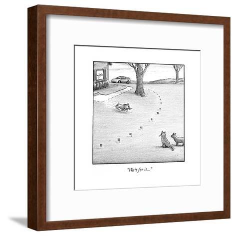 """Wait for it..."" - Cartoon-Harry Bliss-Framed Art Print"