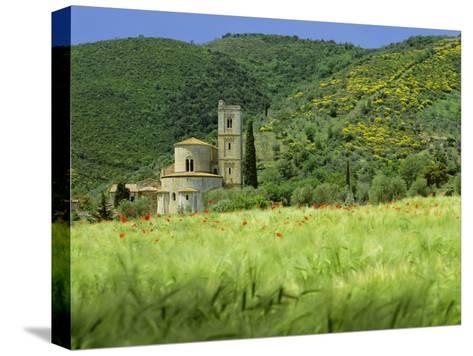 Abbey of Sant' Antimo, Near Montalcino, Tuscany. Exterior-Joe Cornish-Stretched Canvas Print