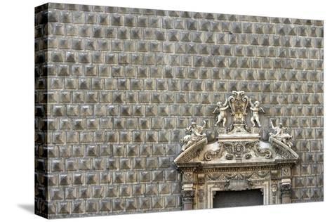 Palazzo Sanseverino, Piazza Del Gesu Nuovo, Naples-Richard Bryant-Stretched Canvas Print