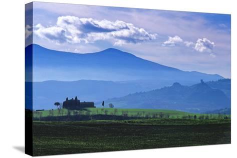 Farm on a Hill Near Pienza-Marcel Malherbe-Stretched Canvas Print