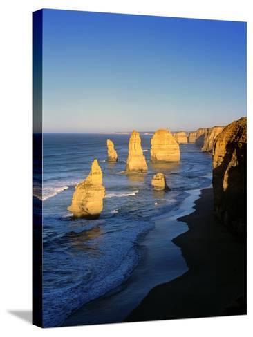 Victoria, Great Ocean Road, Sunrise on the Twelve Apostles-Marcel Malherbe-Stretched Canvas Print