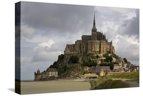Mont St Michel, Normandy-David Churchill-Stretched Canvas Print