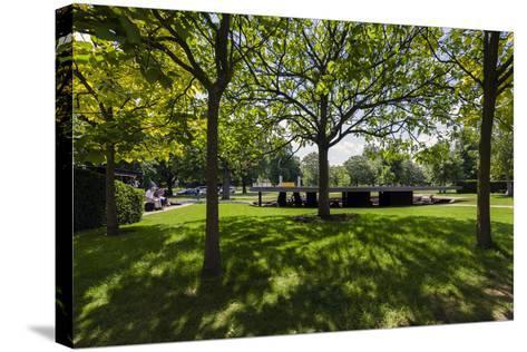 2012 Serpentine Gallery Pavilion. Serpentine Gallery in Kensington Gardens, London-David Cabrera-Stretched Canvas Print