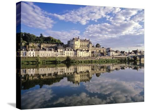 Indre-Et-Loire, Amboise, Castle and Town on the Loire River-Marcel Malherbe-Stretched Canvas Print