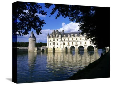 Chenonceau Castle, Loire, View of Chateau Through Trees-Marcel Malherbe-Stretched Canvas Print
