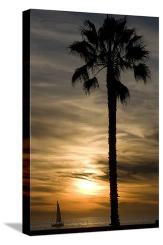 Sunset, Santa Monica Beach-Natalie Tepper-Stretched Canvas Print