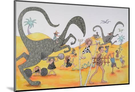 Dinosaurs Family Party-Susie Jenkin Pearce-Mounted Art Print