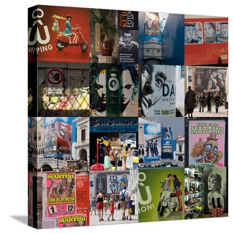Multiple Compilation of Graphic Posters in Venice, Italy-Mike Burton-Stretched Canvas Print