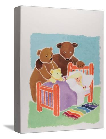 Goldilocks and the Three Bears-Susie Jenkin Pearce-Stretched Canvas Print