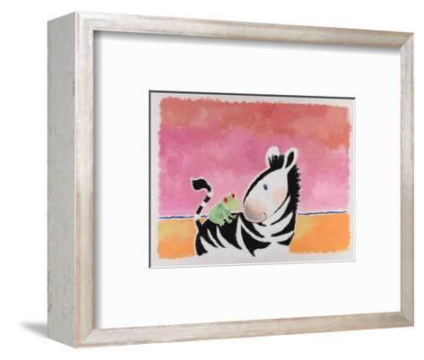 Little Zeb and the Frog-Susie Jenkin Pearce-Framed Art Print