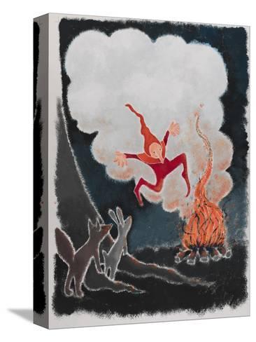 Rumpelstiltskin Dancing in the Night-Susie Jenkin Pearce-Stretched Canvas Print