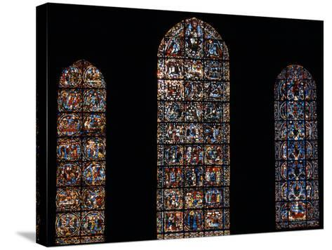 Stained Glass Window, Chartres Cathedral, France-Pol M.R. Maeyaert-Stretched Canvas Print