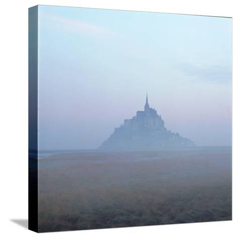 Mont-St-Michel in the Mist Normandy France-Joe Cornish-Stretched Canvas Print