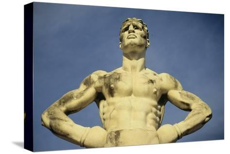 Mussolini Sports Stadium, Rome - Olympic Games 1933 - Statues - Fascist Architecture-Robert ODea-Stretched Canvas Print
