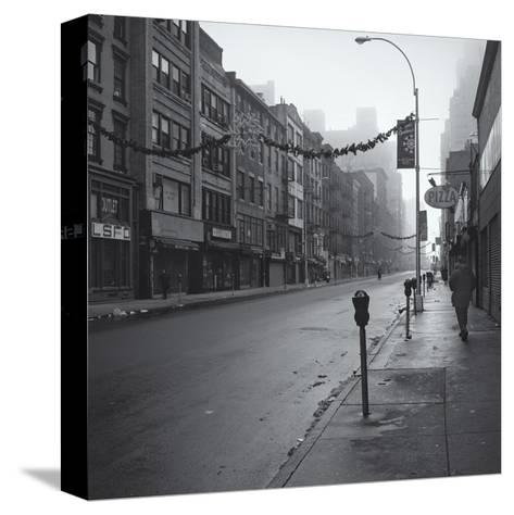 Manhattan Greenwhich Village Street Morning-Henri Silberman-Stretched Canvas Print