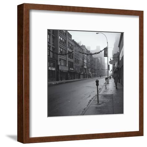Manhattan Greenwhich Village Street Morning-Henri Silberman-Framed Art Print