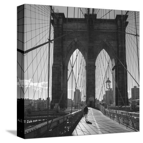 On the Brooklyn Bridge 2-Henri Silberman-Stretched Canvas Print