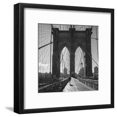 On the Brooklyn Bridge 2-Henri Silberman-Framed Art Print