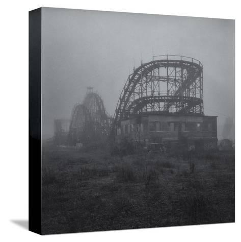 Coney Island Thunderbolt Ride Fog 3-Henri Silberman-Stretched Canvas Print