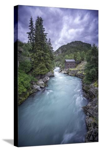 Norway River-Philippe Manguin-Stretched Canvas Print