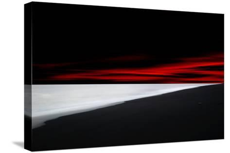 Red Lines-Philippe Sainte-Laudy-Stretched Canvas Print