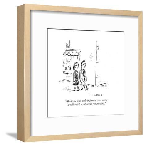 Cartoon-David Sipress-Framed Art Print