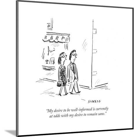Cartoon-David Sipress-Mounted Premium Giclee Print