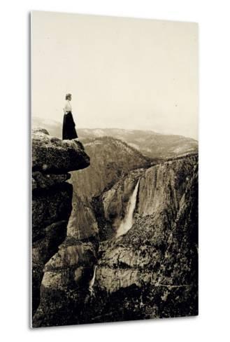 Looking across the Valley to Yosemite Falls, USA, 1917-Underwood & Underwood-Metal Print