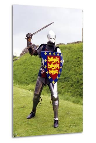 Medieval Knight in Plate Armour, Part of a Historical Re-Enactment--Metal Print