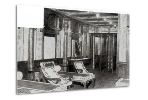 The Turkish Bath Cooling Room on Board the Titanic, 1912--Metal Print