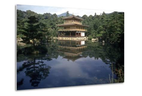 View of the Temple-Japanese School-Metal Print