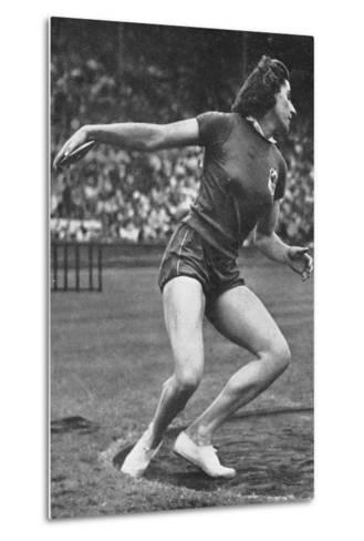 Micheline Ostermeyer on Her Way to Winning the Gold Medal for the Discus Throw at the 1948 London?--Metal Print