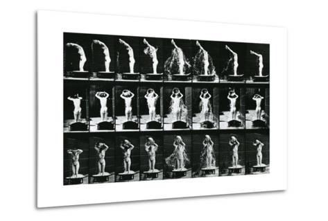 Woman Pouring a Basin of Water over Her Head, Illustration from 'The Human -Eadweard Muybridge-Metal Print