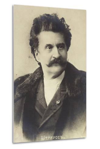 Portrait of Johann Strauss II--Metal Print