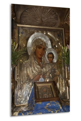 Icon of Mary and Jesus, Tomb of the Virgin Mary, Jerusalem, Israel, 2009--Metal Print