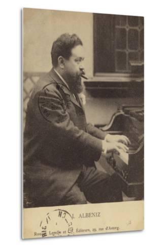Isaac Albeniz, Spanish Pianist and Composer (1860-1909)--Metal Print