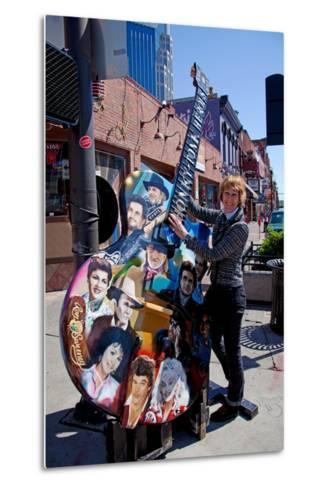 Tourist on Main Street in Nashville Tennessee--Metal Print