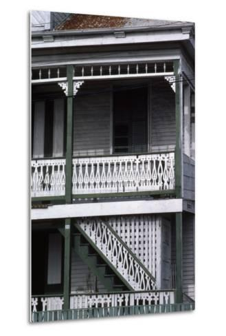 Detail of a Traditional House, Belize City, Belize--Metal Print