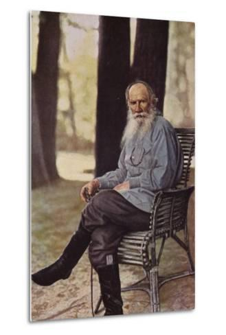 Leo Tolstoy (1828-1910), Russian Novelist, Short Story Writer and Playwright--Metal Print
