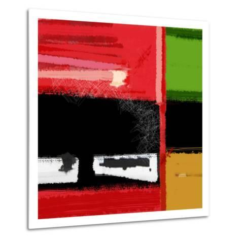 Red and Green Square-NaxArt-Metal Print