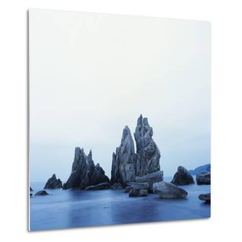 Dramatically Shaped Sea Stacks in Ocean-Micha Pawlitzki-Metal Print
