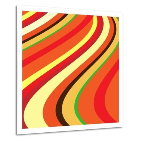 Retro Wave Pattern--Metal Print