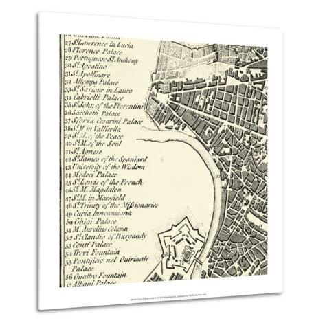 City of Rome Grid IV--Metal Print