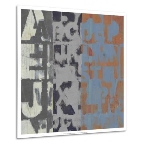 Alphabet Overlay I--Metal Print