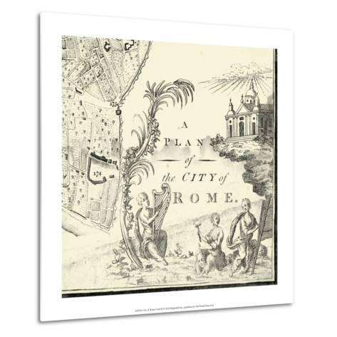 City of Rome Grid IX--Metal Print
