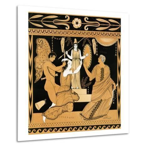 19th Century Greek Vase Illustration of Cassandra with Apollo and Minerva-Stapleton Collection-Metal Print