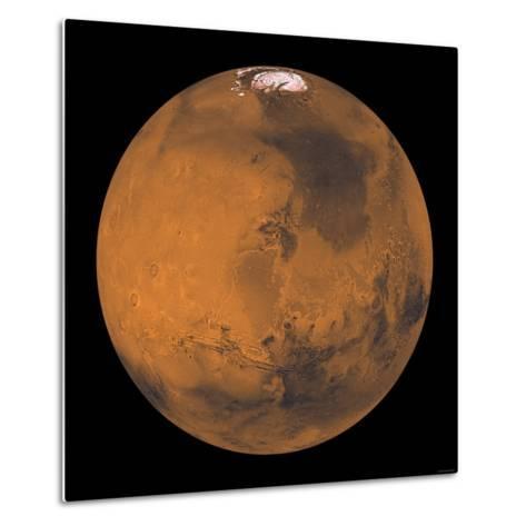 Global Color View of Mars-Stocktrek Images-Metal Print