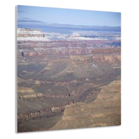 The Grand Canyon in Winter, Unesco World Heritage Site, Arizona, USA-Tony Gervis-Metal Print